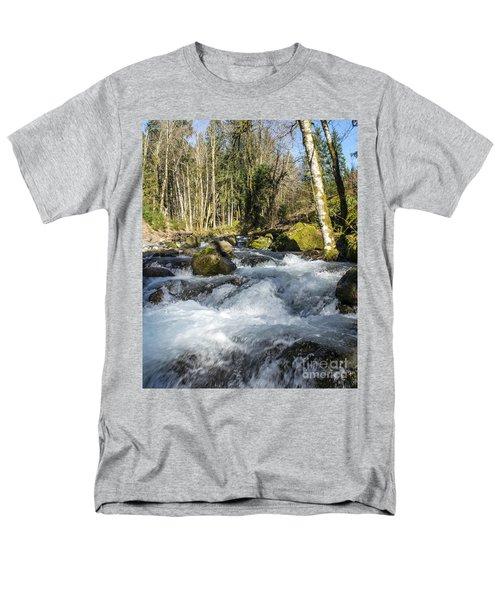 Views Of A Stream, IIi Men's T-Shirt  (Regular Fit) by Chuck Flewelling