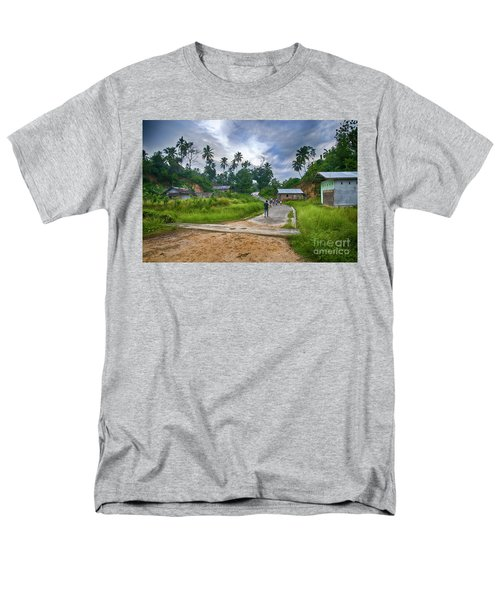 Men's T-Shirt  (Regular Fit) featuring the photograph Village Scene by Charuhas Images