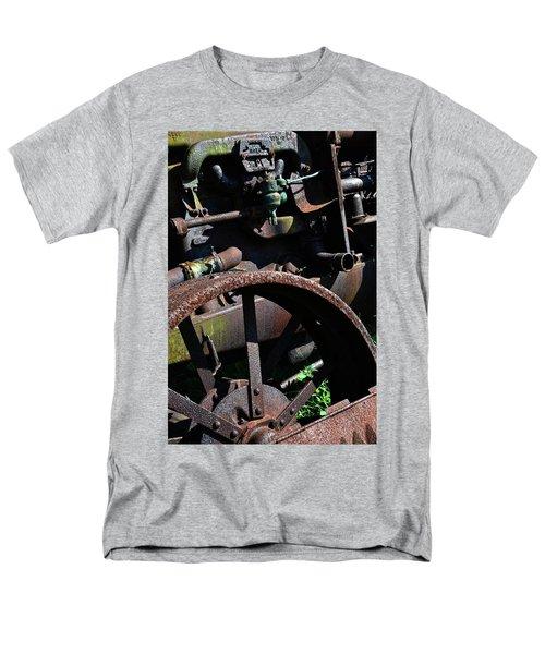 Vintage Farm Tractor Men's T-Shirt  (Regular Fit) by Michelle Calkins