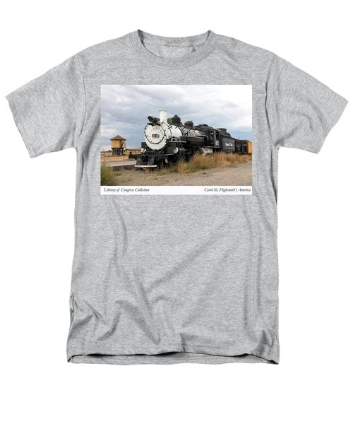 Men's T-Shirt  (Regular Fit) featuring the photograph Vintage Train At A Scenic Railroad Station In Antonito In Colorado by Carol M Highsmith