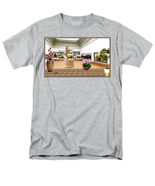Virtual Exhibition - A Modern Horse Statue Men's T-Shirt  (Regular Fit) by Pemaro