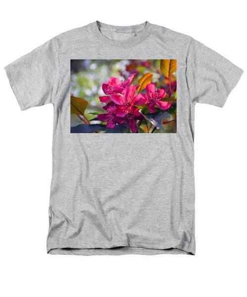 Vivid Pink Flowers Men's T-Shirt  (Regular Fit) by Tina M Wenger