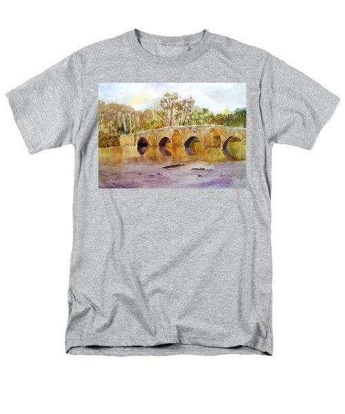 Wales Dipping Bridge Men's T-Shirt  (Regular Fit) by Larry Hamilton