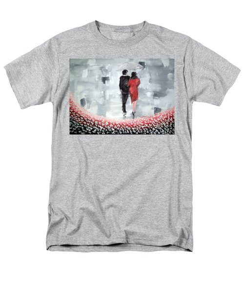 Men's T-Shirt  (Regular Fit) featuring the painting Walk In The Garden by Raymond Doward