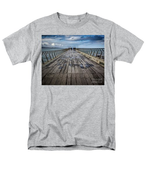 Men's T-Shirt  (Regular Fit) featuring the photograph Walking The Pier by Perry Webster