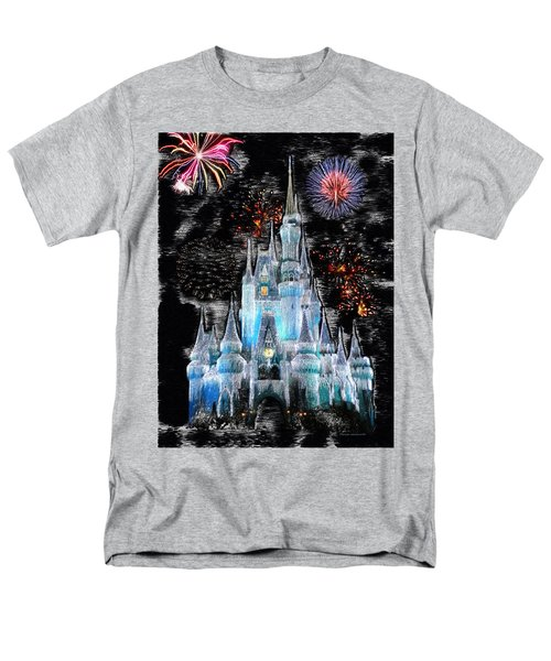 Walt Disney World Frosty Holiday Castle Mp Men's T-Shirt  (Regular Fit) by Thomas Woolworth