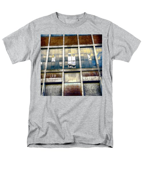 Men's T-Shirt  (Regular Fit) featuring the photograph Warehouse Wall by Wayne Sherriff