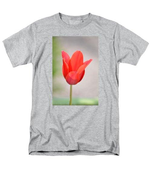 Warm Pink Tulip Men's T-Shirt  (Regular Fit) by William Bartholomew