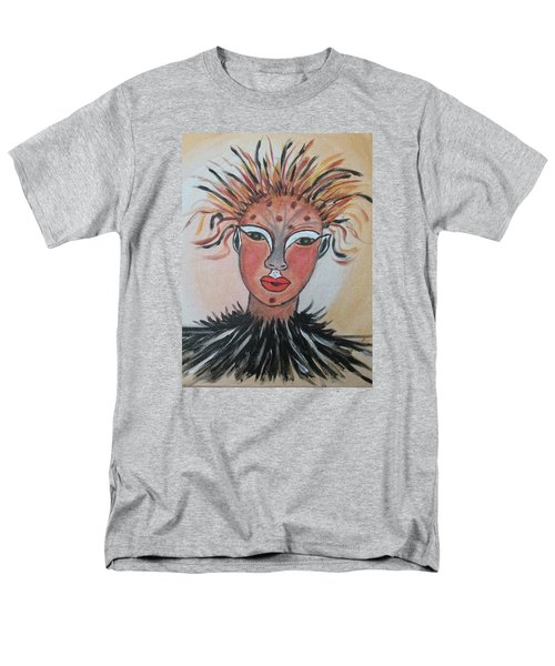 Men's T-Shirt  (Regular Fit) featuring the painting Warrior Woman  #3 by Sharyn Winters