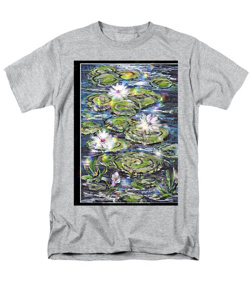 Water Lilies And Rainbows Men's T-Shirt  (Regular Fit)