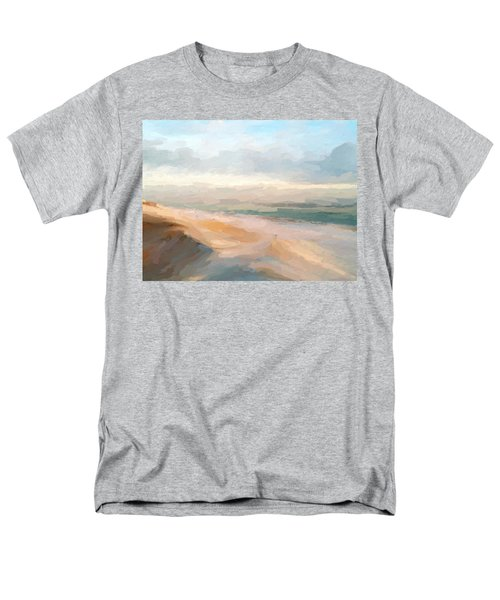 Watercolor Beach Abstract Men's T-Shirt  (Regular Fit) by Anthony Fishburne