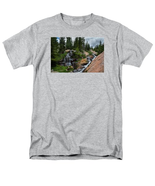Waterfall Above Upper Slate Lake Men's T-Shirt  (Regular Fit) by Michael J Bauer