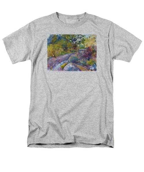 Chartreuse And Magenta Men's T-Shirt  (Regular Fit) by Helen Campbell