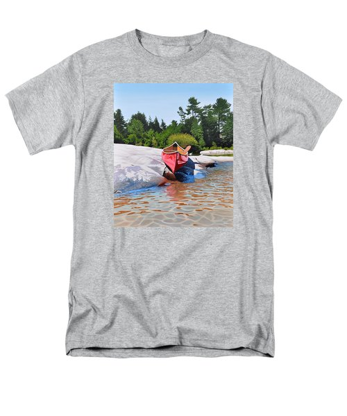 Men's T-Shirt  (Regular Fit) featuring the painting Waters Edge by Kenneth M Kirsch