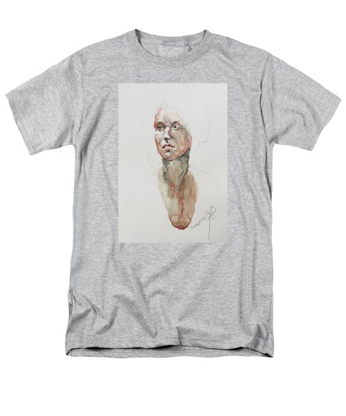Men's T-Shirt  (Regular Fit) featuring the painting Wc Mini Portrait 5             by Becky Kim