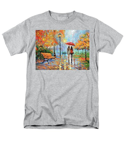 Men's T-Shirt  (Regular Fit) featuring the painting We Met In Park          by Dmitry Spiros