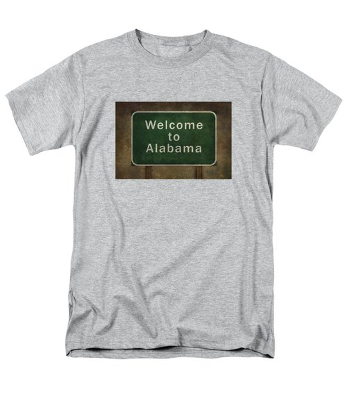 Welcome To Alabama Roadside Sign Illustration Men's T-Shirt  (Regular Fit) by Bruce Stanfield