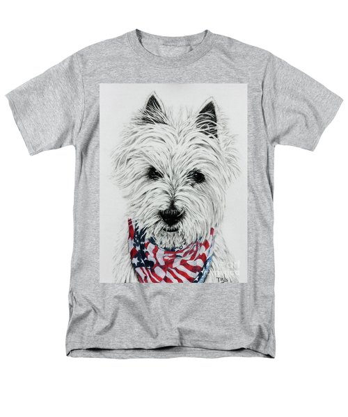 Westie Men's T-Shirt  (Regular Fit) by Terri Mills