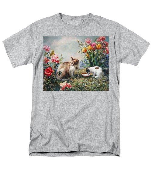 What A Girl Kitten Wants Men's T-Shirt  (Regular Fit) by Svitozar Nenyuk