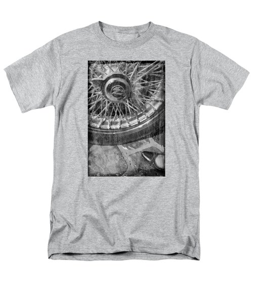 Men's T-Shirt  (Regular Fit) featuring the photograph Wheel Of An Old Car. by Andrey  Godyaykin