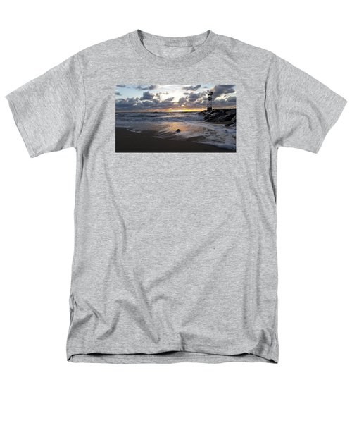 Men's T-Shirt  (Regular Fit) featuring the photograph Whelk Shell And Sunrise by Robert Banach