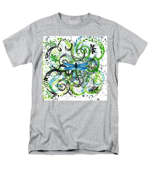 Whimsical Dragonflies Men's T-Shirt  (Regular Fit)
