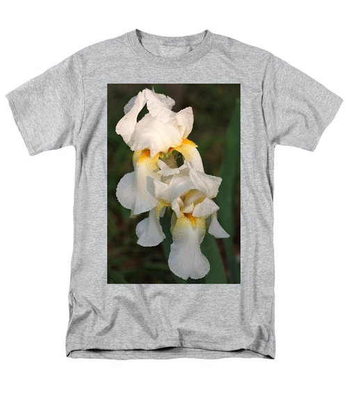 Two White Bearded Iris At Dusk Men's T-Shirt  (Regular Fit) by Sheila Brown
