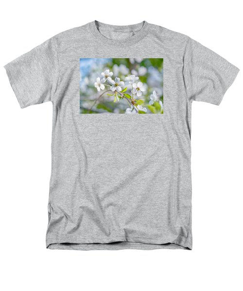 Men's T-Shirt  (Regular Fit) featuring the photograph White Cherry Blossoms In Spring by Alexander Senin