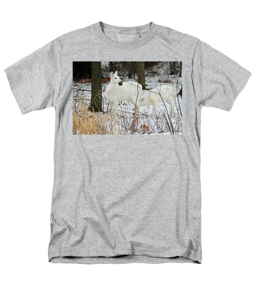 White Deer With Squash 2 Men's T-Shirt  (Regular Fit) by Brook Burling