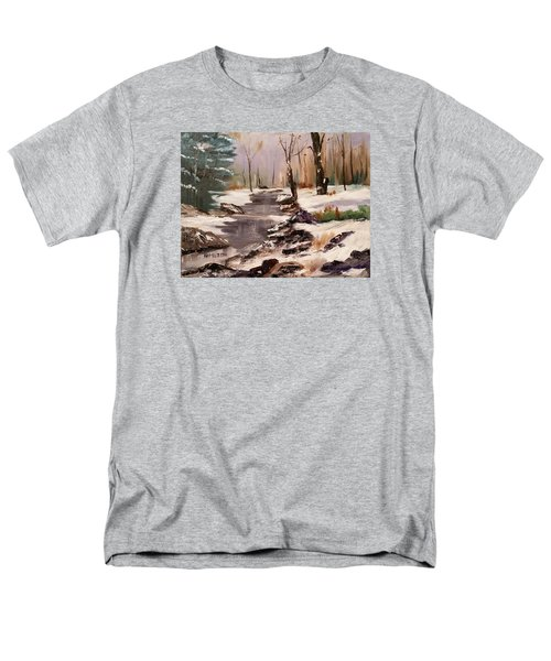 White Mountains Creek Men's T-Shirt  (Regular Fit) by Larry Hamilton