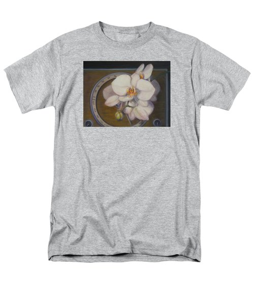 Men's T-Shirt  (Regular Fit) featuring the painting White Orchids by Donelli  DiMaria