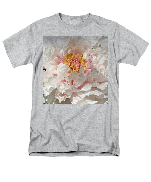 Men's T-Shirt  (Regular Fit) featuring the photograph White Peony by Sandy Keeton