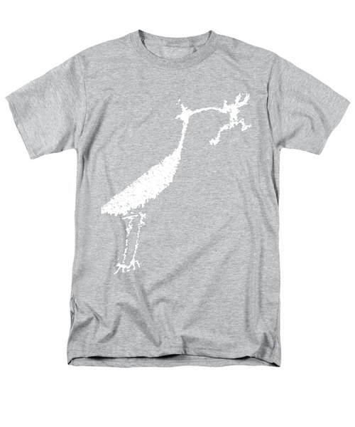 Men's T-Shirt  (Regular Fit) featuring the photograph White Petroglyph by Melany Sarafis