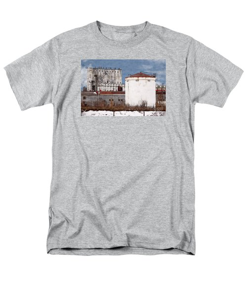 White Silo And Grain Elevator Men's T-Shirt  (Regular Fit) by David Blank