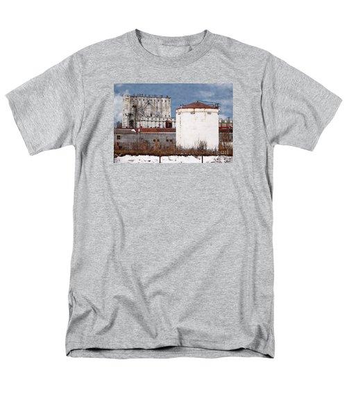 White Silo And Grain Elevator Men's T-Shirt  (Regular Fit)
