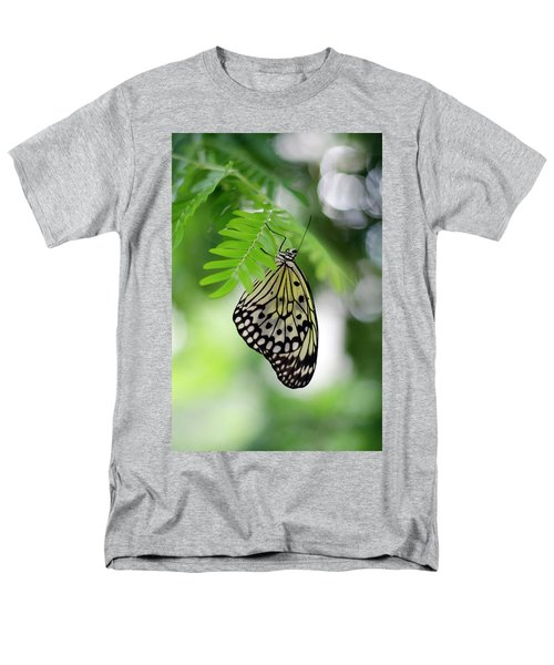 White Tree Nymph Butterfly 2 Men's T-Shirt  (Regular Fit) by Marie Hicks