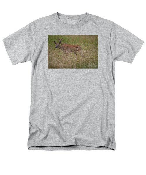 Men's T-Shirt  (Regular Fit) featuring the photograph Whitetail With Fawn 20120707_09a by Tina Hopkins
