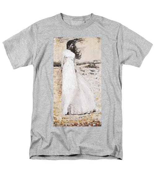 Men's T-Shirt  (Regular Fit) featuring the painting Out On The Wiley Windy Moors by Jarko Aka Lui Grande