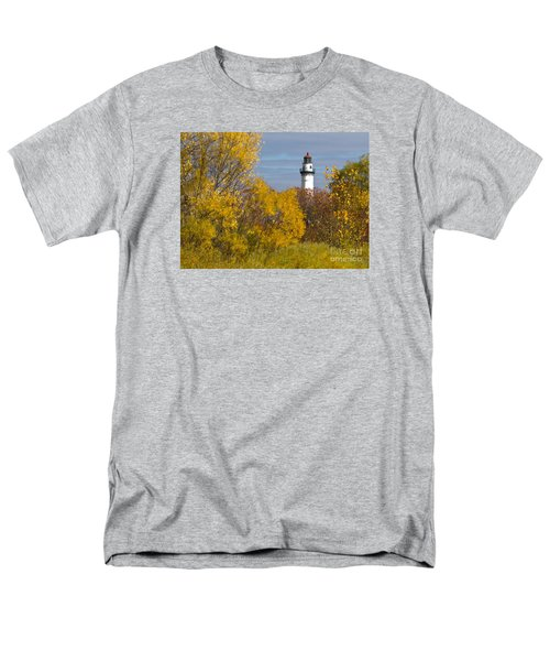 Wind Point Lighthouse In Fall Men's T-Shirt  (Regular Fit)