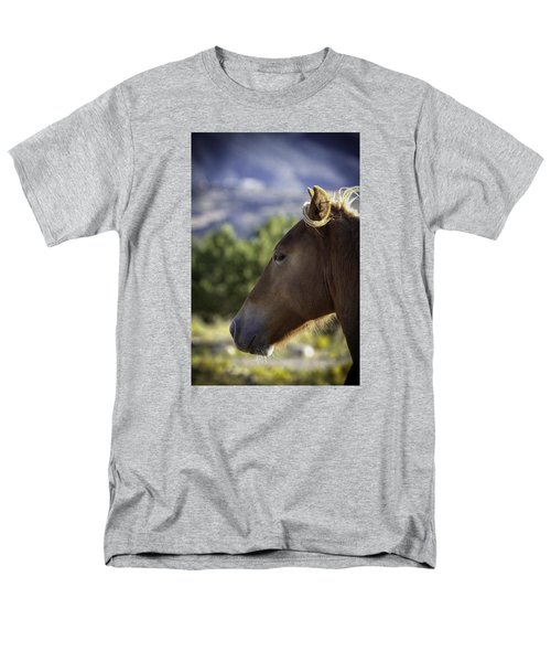 Wild Profile Men's T-Shirt  (Regular Fit) by Elizabeth Eldridge
