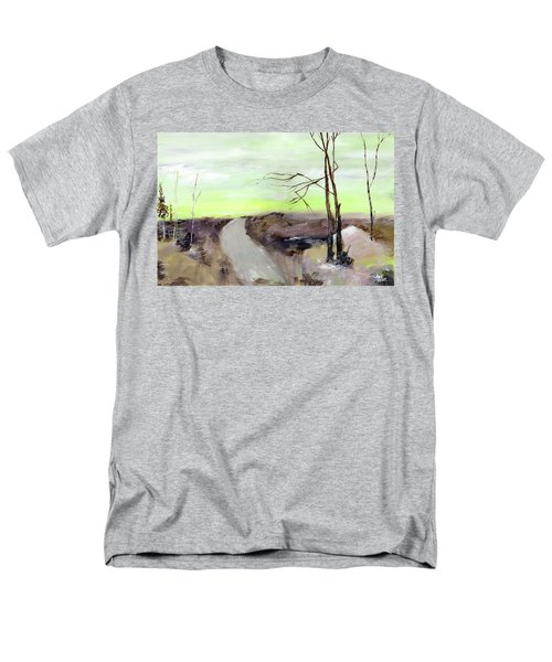 Men's T-Shirt  (Regular Fit) featuring the painting Wilderness 2 by Anil Nene