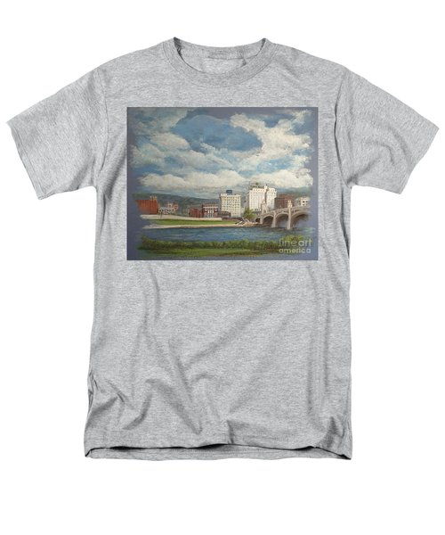 Wilkes-barre And River Men's T-Shirt  (Regular Fit) by Christina Verdgeline