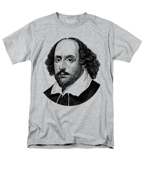 William Shakespeare - The Bard - Black And White Men's T-Shirt  (Regular Fit) by War Is Hell Store