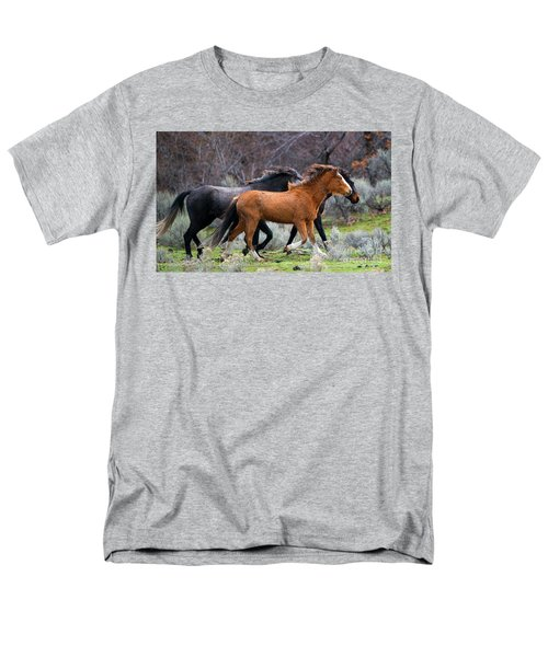 Men's T-Shirt  (Regular Fit) featuring the photograph Wind In The Manes by Mike Dawson