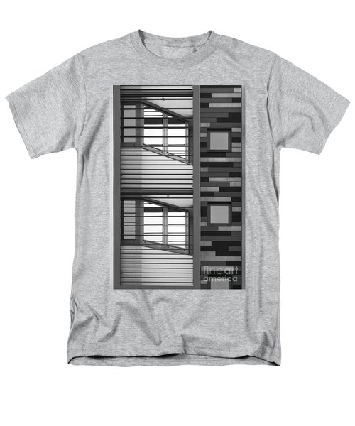 Vertical Horizontal Abstract Men's T-Shirt  (Regular Fit) by Wendy Wilton