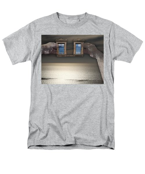 Men's T-Shirt  (Regular Fit) featuring the photograph Window Hands by Christopher Woods
