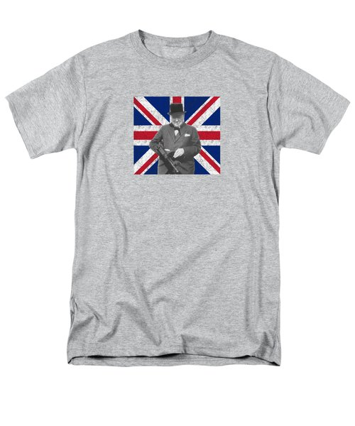 Winston Churchill And His Flag Men's T-Shirt  (Regular Fit) by War Is Hell Store