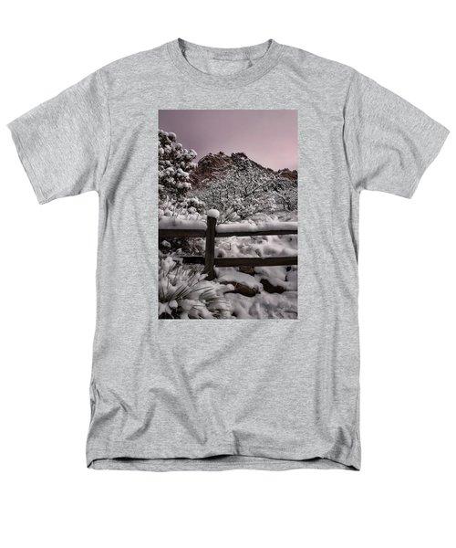 Men's T-Shirt  (Regular Fit) featuring the photograph Winter At Garden Of The Gods by Ellen Heaverlo