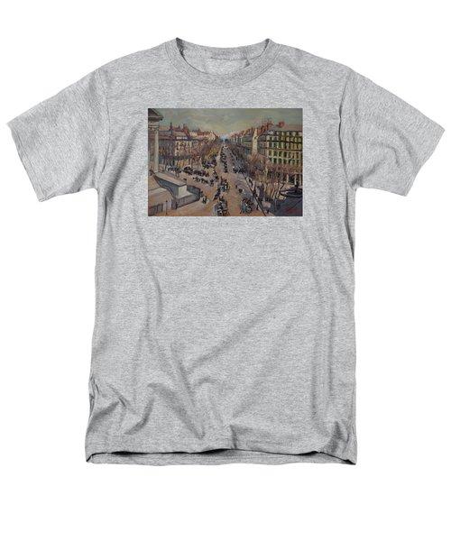 Winter At The Boulevard De La Madeleine, Paris Men's T-Shirt  (Regular Fit) by Nop Briex