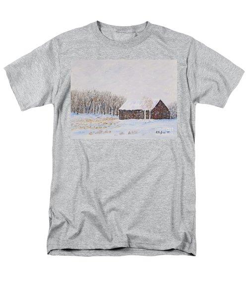 Winter Barn Men's T-Shirt  (Regular Fit) by Stanton Allaben